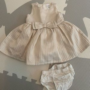 Gold Carter's holiday dress